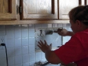 Kitchen tile job 3